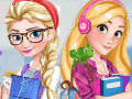 Esla and Rapunzel College Girls