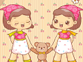 Cute Twin Baby Dolls
